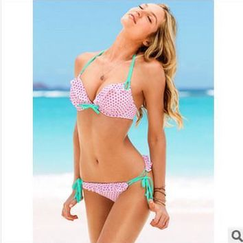 High Quality Comfortable Sexy Summer Water Droplets Leopard Ladies Swimwear [6047444737]