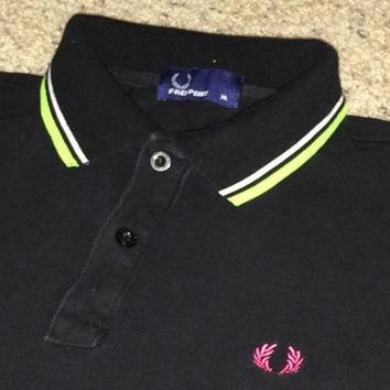 Sale!! Vintage Fred Perry casual polo shirt punk ska mod oi tennis tops Free shipping