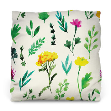 Fantastic Flora Outdoor Throw Pillow