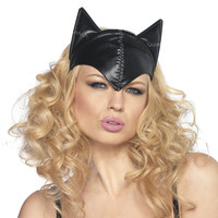 Black Cat Hat Mask - New Age, Spiritual Gifts, Yoga, Wicca, Gothic, Reiki, Celtic, Crystal, Tarot at Pyramid Collection
