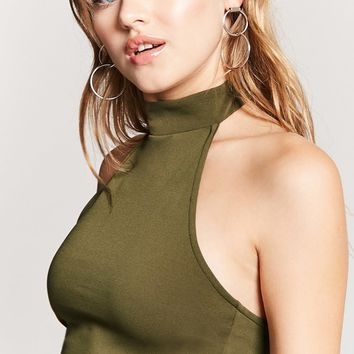 Mock Neck Halter Top