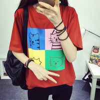 Kitty Cats Kawaii Harajuku Style T-Shirt Summer Top