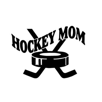 Car Styling Mom Hockey Sports Fashion Vinyl Car Stickers