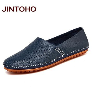 Leather & Suede Men Loafers Genuine Leather Men Shoes Slip On Footwear Male Leather Shoes Men Flats