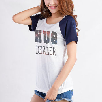 Hug Dealer T Shirts for Womens Girls Gifts Tumblr Hipster Cool Funny Slogan Fangirls Daughter Cute Tops Gifts Birthday New Year Teenagers