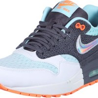 Nike Air Max 1 Premium W shoes turquoise grey