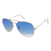 UNISEX LARGE AVIATOR SUNGLASSES WITH COLORFUL LENSES