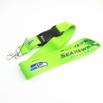 Football Seattle Seahawks Keychain Lanyard Neck Strap Key Ring For ID Pass Card Badge Gym Key Mobile Phone USB Holder Lanyard