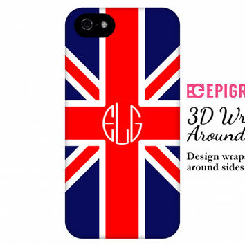 British Flag iPhone 6 case, iPhone 6 plus case, monogram iPhone 5c case, iPhone 4s phone cases, Galaxy S5 case, nexus 5 case, monogram gifts