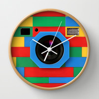 classic retro full color rubik cube camera Decorative Circle Wall Clock Watch by Three Second
