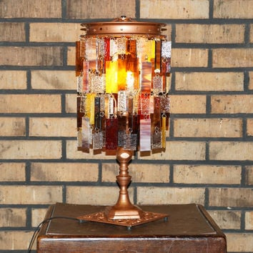 Ode To Autumn - Glass Lamp, Stained Glass, Art Glass, Table Lamp, Accent Light (One of a Kind)