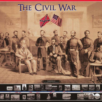Civil War Surrender at Appomattox Poster 24x36