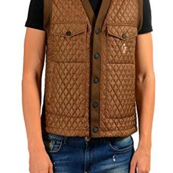 Moncler Men's Parrot Quilted Lightly Insulated Down Vest Moncler Sz 3 US M