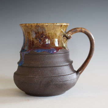 LARGE Pottery Mug, 20 oz,  unique coffee mug, handmade ceramic cup, handthrown mug, stoneware mug, wheel thrown pottery mug, ceramics