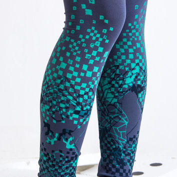Green square games  - leggings