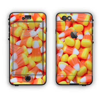 The Candy Corn Apple iPhone 6 Plus LifeProof Nuud Case Skin Set
