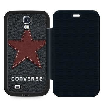Converse Sport Leather Wallet Flip Case Samsung Galaxy S4
