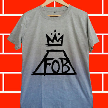 fall out boy - Screenprint Grey T shirt for Woman and Mens fast shipping