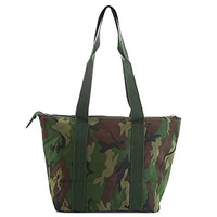 Military Camouflage Thermal Lunch Tote - Green