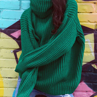 Heather Long Oversized Knit Sweater