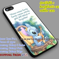 Lilo and Stitch Quote iPhone 6s 6 6s+ 6plus Cases Samsung Galaxy s5 s6 Edge+ NOTE 5 4 3 #cartoon #animated #disney #Lilo&Stitch dl5
