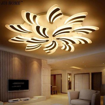 2017 New Peacock tail  ceiling lamps for living room bedroom art square acrylic ceiling chandelier lamp Ceiling Fixtures