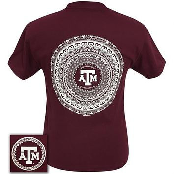 Texas A&M Preppy Mandala T-Shirt