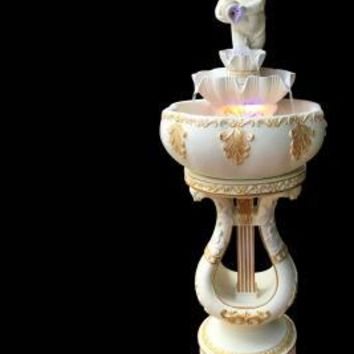 European water fountain Aquarium lucky Feng Shui round wedding gifts living room home decorations Angel floor ornaments.