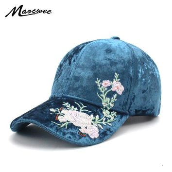 Trendy Winter Jacket Women's Cap Rose Flower Spring autumn Snapback Dad Hat For Men Women Unisex Chinese Style Baseball Cap Female Embroidery Club AT_92_12