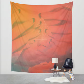 Head in the Clouds Wall Tapestry by DuckyB (Brandi)