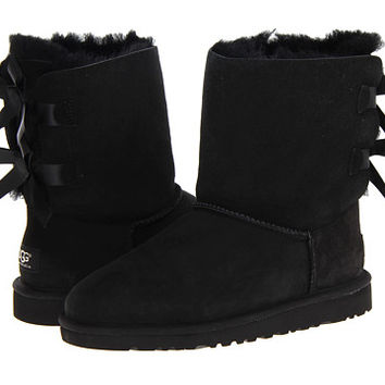 UGG Kids Bailey Bow (Big Kid) Black - Zappos.com Free Shipping BOTH Ways