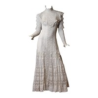 Late Victorian Lace Tea Dress