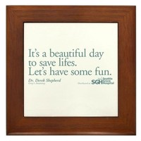 Save some lives. - Grey's Anatomy Framed Tile