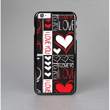 The Sketch Love Heart Collage Skin-Sert Case for the Apple iPhone 6 Plus