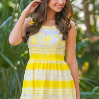 Freshly Squeezed Dress-Lemon