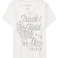 Aeropostale  Sparkle Sports Cropped Graphic T