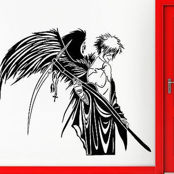 Wall Stickers Vinyl Decal Angel of Death Warrior Wings Anime Manga (ig1781)