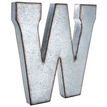 Large Galvanized Metal Letter - W | Shop Hobby Lobby