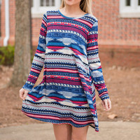 Lyrical Love Dress, Blue