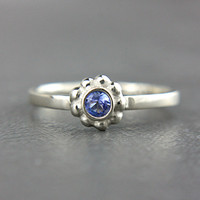 Tanzanite Engagement Ring Tanzanite 14k White Gold Ring Natural Tanzanite Gold Ring Made in Your Size Tanzanite Engagement Ring