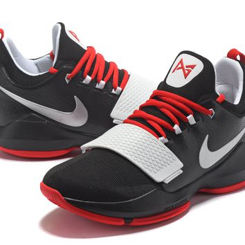Nike Zoom PG 1 Black/Silver/Red Basketball Shoes