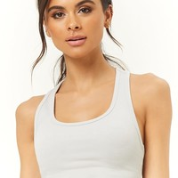 Active Ribbed Cropped Tank Top