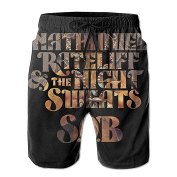 Nathaniel Rateliff And The Night Sweats Mens Fashion Casual Beach Shorts