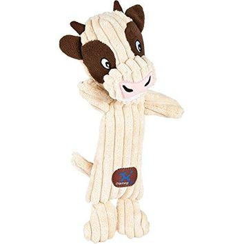 Charming Pet Heads Pet Squeak Toy, Cow