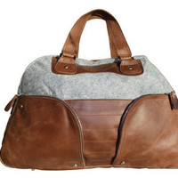 Leather / Felt Men Weekender by keenonbags on Etsy