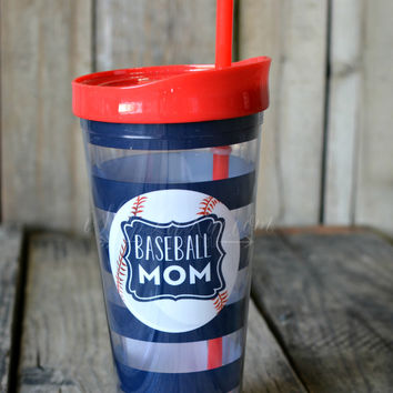 22 OZ. BASEBALL MOM TUMBLER