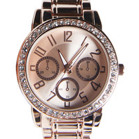 Quarter To Shine Rhinestone Watch | Wet Seal