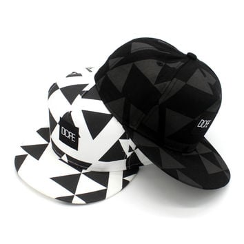 Korean Cotton Hip-hop Baseball Cap Couple Print Hats [4917729476]