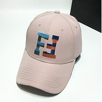 Fendi New fashion embroidery letter couple hat cap Pink