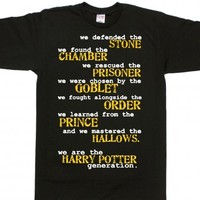 Black T-Shirt | Cool Harry Potter Shirts